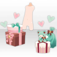 (Avatar Decor) Present Boxes filled with Hearts ver.A green