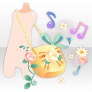 (Body Accessories) Flower Magical Chain Bag ver.A orange