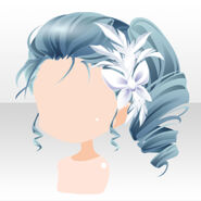 (Hairstyle) Ice Princess Swan Side Up Curly Hair ver.A blue