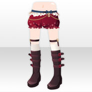 (Pant&Skirt) Assistant Belt Boots ver.A red