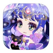 (App Icon) Cat in Starry Moon Night