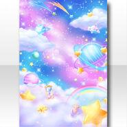 (Wallpaper Profile) CocoPPa Dolls Colorful Rocket Wallpaper ver.A blue