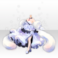 (Tops) Glass Luxury Furred Long Dress ver.A white