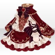 (Tops) Snow Land Romantic One-Piece ver.A red