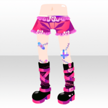 (Pant&Skirt) Glittery Zombie Injured Legs and Belt Boots ver.A pink