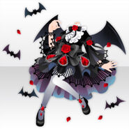 (Tops) Vampire Night Rose Style ver.A black