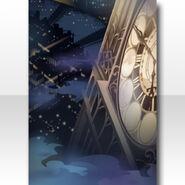 (Wallpaper Profile) Night Phantom Clock Tower Wallpaper ver.A blue