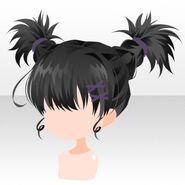(Hairstyle) Phantom Active Braided Hair ver.A black