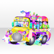 (Avatar Decor) Glittery Zombie Packed School Bus ver.A yellow