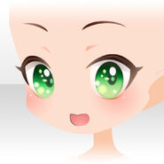 (Face) Royal Girl Energetic Smiling Face ver.A green