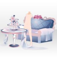 (Avatar Decor) Elegant Room Sofa and Table ver.A blue