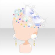 (Head Accessories) Glass Luxury Head Dress ver.A white