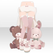 (Pant&Skirt) Dolls with Pumps and Underwear ver.A pink