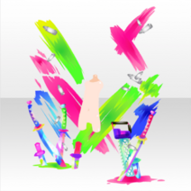 (Avatar Decor) Glittery Zombie Colorful Weapon ver.A green