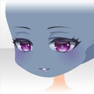 (Face) Beautiful Elf Noble Dark Smiling Face ver.A purple