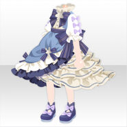 (Tops) Champignon Frilled Long Dress ver.A blue