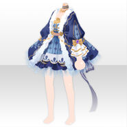 (Tops) Ribbon Tail Mini Dress ver.A blue