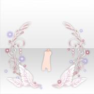(Avatar Decor) Fallen Feather Lightning Angel Object ver.A white