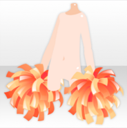 (Hand Accessories) Sunny Cheer Pompom ver.A orange