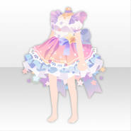 (Tops) Cute Star Bejeweled Stary Dress ver.A pink