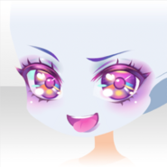 (Face) Glittery Zombie Mischievous Smile Face ver.A purple