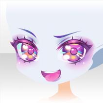 (Face) Glittery Zombie Mischievous Smile Face ver.A purple
