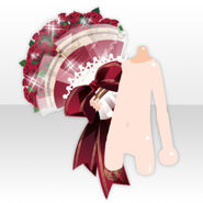 (Outerwear) Handheld Rose Bouquet Present ver.A red
