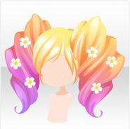 (Hairstyle) Bee Flowers Twin Tail Fair ver.A yellow