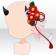 (Head Accessories) Goblin Horns with Flower ver.A brown