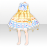 (Tops) Happy Teddy Checkered Dress ver.A yellow