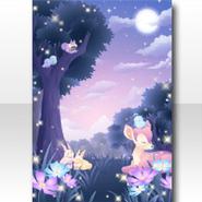 (Wallpaper Profile) Fancy Animals Sleeping in Forest Wallpaper ver.A purple