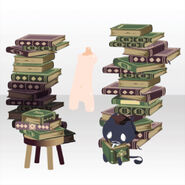 (Body Accessories) Piled Up Books and Familiar ver.A green