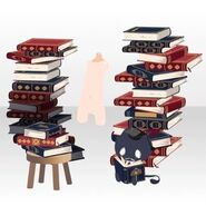 (Body Accessories) Piled Up Books and Familiar ver.A red