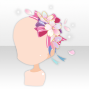 (Head Accessories) Shower of Cherry Blossoms Ribbon Hat ver.A pink