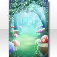 (Wallpaper Profile) CocoPPa Dolls Princess Amar Forest Wallpaper ver.A green
