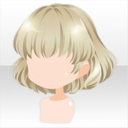 (Hairstyle) Champignon Fluffy Bob Hair ver.A gold