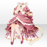 (Tops) Imperial Princess Ribbon Tail Dress Style ver.A pink