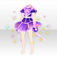 (Tops) Retro Planet Stardust Ribbon Dress ver.A purple