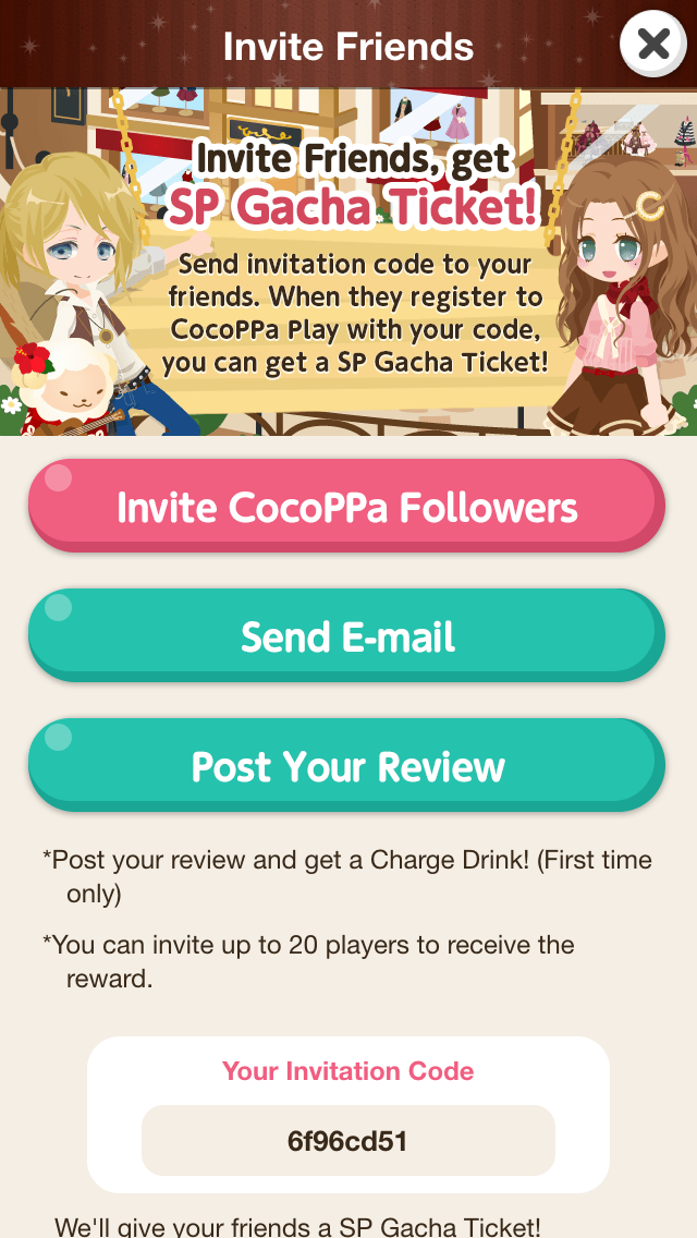 invitation code for get followers