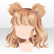 (Hairstyle) LOVE MY TEDDY Bear Ears Hair ver.A yellow