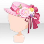 (Head Accessories) Taisho Roman Antique Hat ver.A pink