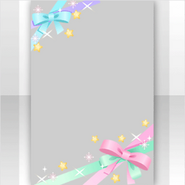 (Show Items) Sparkle Colorful Ribbon Decor2 ver.1