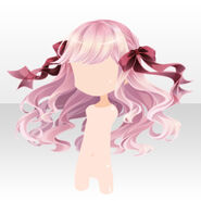 (Hairstyle) Alice Ribbon Waved Long Hair ver.A pink