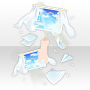 (Avatar Decor) Throwing Paper Airplane with My Feelings ver.A white