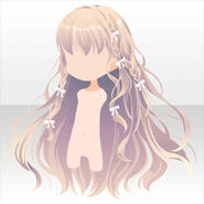 (Hairstyle) Angel Mini Ribbon on Long Hair ver.A yellow