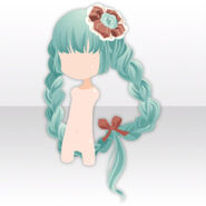 (Hairstyle) Chocolate Mint Heart Braided Hair ver.A green