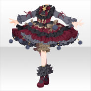 (Tops) Champignon Fluffy Lolita Dress ver.A red