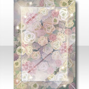 (Wallpaper Profile) Glass Case Filled with Flowers Wallpaper ver.A green