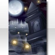 (Wallpaper Profile) Weird Killer Distorted Clock Tower Wallpaper ver.A black