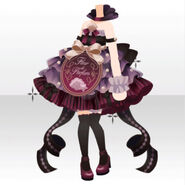 (Tops) Happy Makeup Girls Perfume Dress Style ver.A red